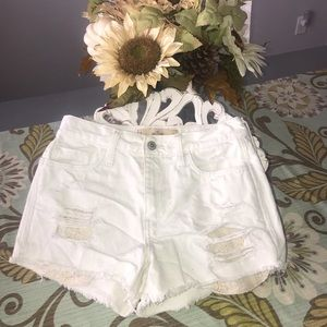 Hollister High Waisted Destroyed Shorts 3 26
